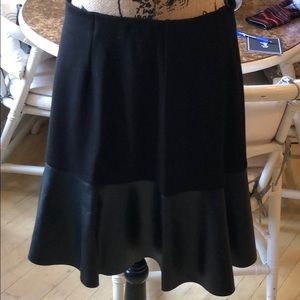 Black & Faux Leather skirt